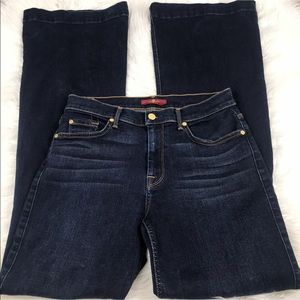 7 For All Mankind Ginger Flare Jeans Dark Wash 29